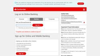 Log on to Online Banking - business.santander.co.uk