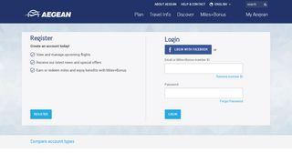 Login | Aegean Airlines