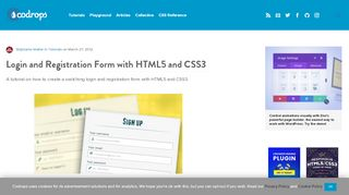 Login and Registration Form with HTML5 and CSS3  …