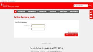 Login Online-Banking - Sparkasse HRV