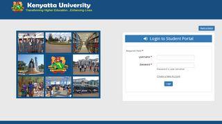 Login to Student Portal - K.U Portal