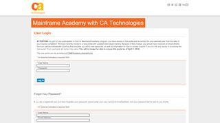 Mainframe Academy - Log In - Interskill