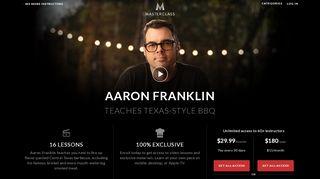 MasterClass   Aaron Franklin Teaches Texas-Style BBQ