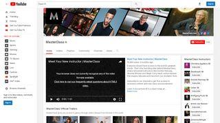 MasterClass - YouTube
