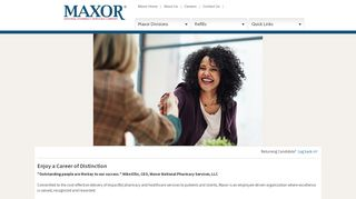 Maxor National Pharmacy Services, LLC | Careers Center | Welcome