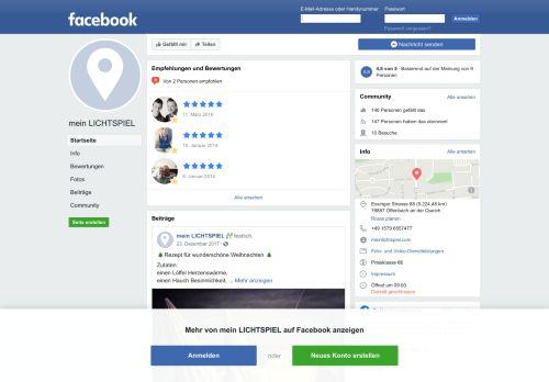 mein LICHTSPIEL - Startseite | Facebook