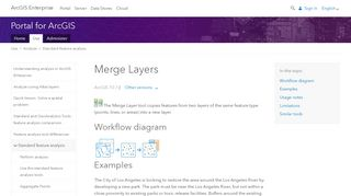 Merge Layers - ArcGIS Enterprise - ArcGIS Online