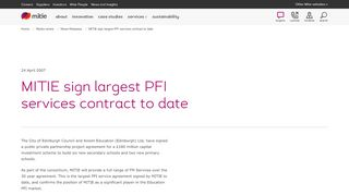 MITIE sign largest PFI services contract to date
