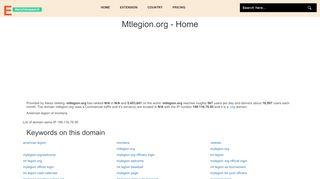 Mtlegion.org - Home