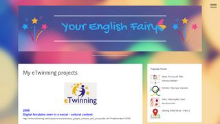 My eTwinning projects   Your English Fairy