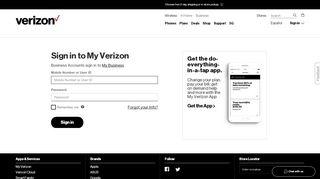 My Verizon Log In | Verizon Wireless