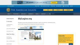 MyLegion.org | The American Legion