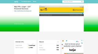 myltfs.ltfinanceholdings.com - MyLTFS : Login - L&T Financial ...