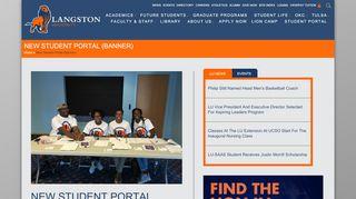 New Student Portal (Banner)   Langston University