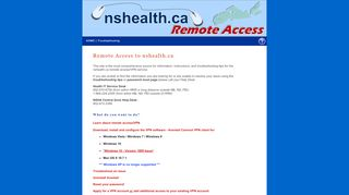 nshealth.ca Remote Access - Nova Scotia Health Authority