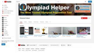 Olympiad Helper - YouTube