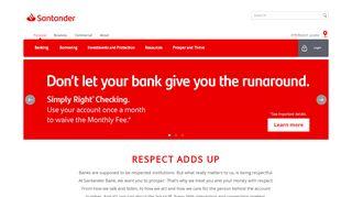 Online Bank Account | Personal Banking | Santander Bank