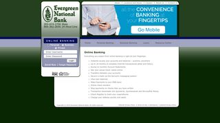 Online Banking - Home Main