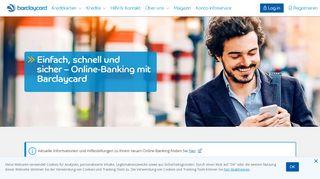 Online-Banking mit Kundenservice   Barclaycard