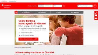 Online-Banking   Sparkasse Bochum