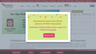 Online Olympiad Exam Preparation Sample Papers for Class 1 ...