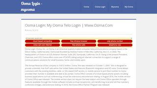 Ooma Login - myooma - my.ooma.com
