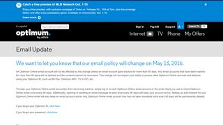 Optimum | Email Update