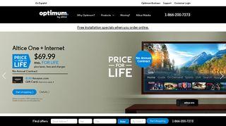Optimum Internet, TV and Phone - Connect More