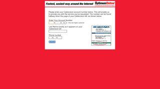 Optimum Online Account Set-up