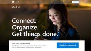 Outlook – free personal email and calendar from Microsoft