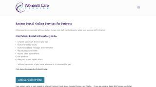 Patient Portal: Online Services for Patients - Womens Care Florida