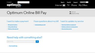 Pay Your Bill Online | Optimum