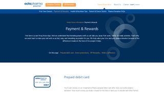 Payment & Rewards   Octapharma Plasma