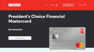 PC Mastercard   No Annual Fee Credit Card   PC Financial