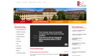 PH Weingarten: Home