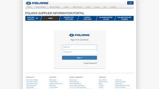 Polaris Supplier Information Portal