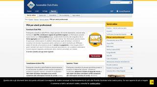 PRA per utenti professionali - ACI