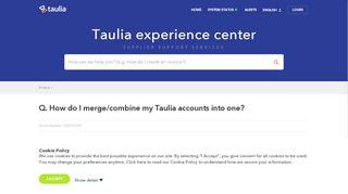 Q. How do I merge/combine my Taulia ... - Taulia Support