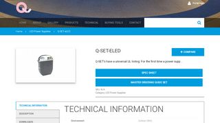 Q-SET-eLED | Linear LED Lighting Systems, Power Supplies ...