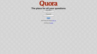 Quora - Login