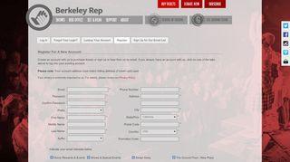Register - BERKELEY REPERTORY THEATRE