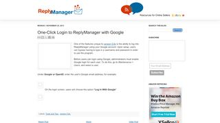 ReplyManager: One-Click Login to ReplyManager with Google