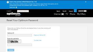 Reset Your Optimum Password | Optimum
