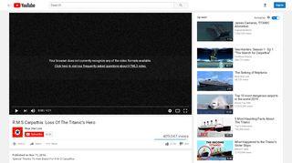 R.M.S Carpathia: Loss Of The Titanic's Hero - YouTube
