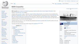 RMS Carpathia - Wikipedia