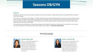 Seasons OB / GYN : Pittsburgh Area Obstetrics and Gynecology