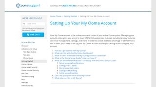 Setting Up Your My Ooma Account | Home Phone | Support