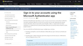 Sign in to your accounts using the Microsoft Authenticator app ...