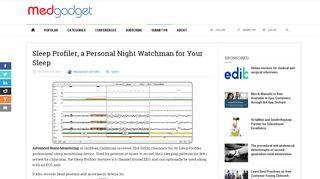 Sleep Profiler, a Personal Night Watchman for Your Sleep   Medgadget