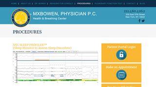 Sleep Profiler™ NYC (Sleep Monitor for Sleep Disorder Assessment)
